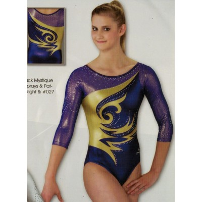 Concorde -Purple Mystique, concorde-purple sheer mesh over gold-gold mystique, gold mystique , crystal